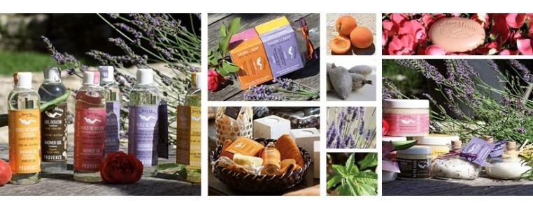 Produits naturels pour la douche et le bain fabriqués en Provence